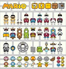 Dressing Super Mario: Nintendo 8-Bit Virtual Model Kits