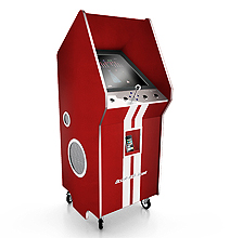A Retro Arcade Cabinet With An iPhone Dock!