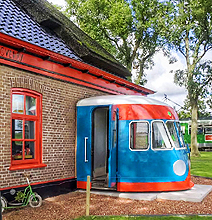 A Train Turned Into A Bed And Breakfast Hotel!
