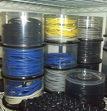 Geeks Store Their Cables The Recycled Way!