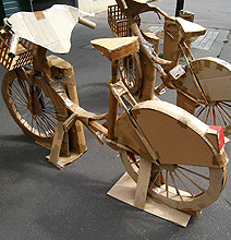 The Only Bike Station Made Entirely Out Of Cardboard