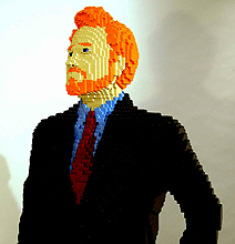 Celebrity Goes LEGO: Life Size Conan O'Brien LEGO Build