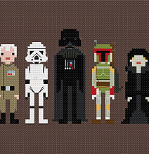 Hand Crafted Cross-Stitched Star Wars, Ghostbusters And More…