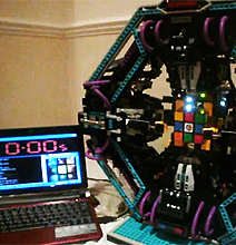 LEGO Robot Solves Rubik's Cube | Insanely Fast