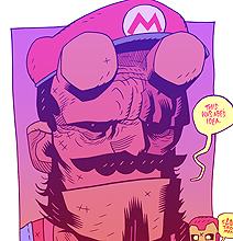 Super Mario Hell Boy by Dan Hipp