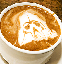 Latte Art Turns To Darth Vader, Batman & More For Inspiration