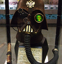 Darth Vapour: Iconic Steampunk Leather Helmet