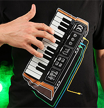 Play That T-Shirt: Electronic Music Synthesizer Shirt