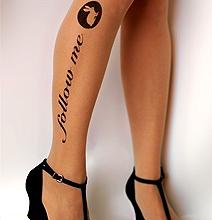 Twitter Follow Me Tattoo Socks