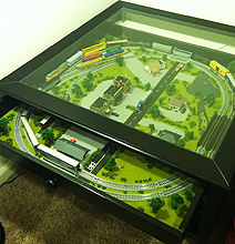 Hacked IKEA Coffee Table Has A Set Of Trains