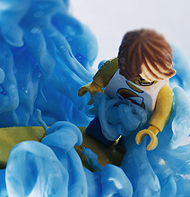 Ink Riders: Beautiful Surfing Lego Figurines Photo Series