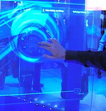 "Intel first to create the ""Minority Report"" screen!"