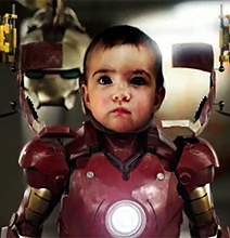 Iron Baby Is Here! – Beats Iron Man's Butt Many Times Over