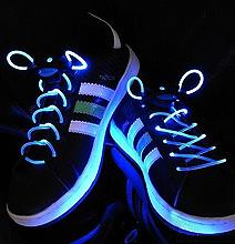 LED Light Up Shoe Laces Disco Club Flourescent