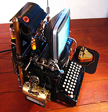 Steampunk Mac Uses A 140 Year Old Typewriter