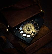 Badass Nostalgic Steampunk Rotary Smartphone