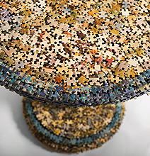 Missing Pieces: Jigsaw Puzzle Table & Lamp