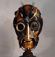 Mohawk Steampunk Leather Mask Retrofication