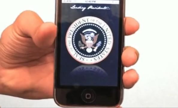 Obama's Customized iPhone