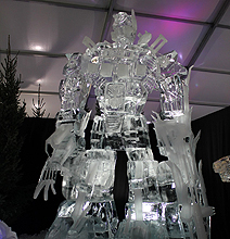 Iced Out: 26-Foot Optimus Prime Sculpted From Ice