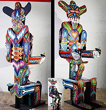 Old Skateboards Become Magnificent Peruvian Art!