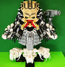 Epic Lego Predator Bust Totally Brags About Skulls Collected