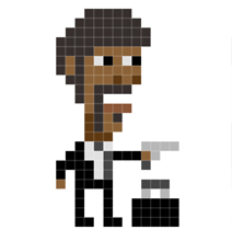 18 Pulp Fiction Characters Forever Pixel Immortalized