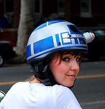 R2-D2 Bicycle Helmet: Badass Just Got Badder!