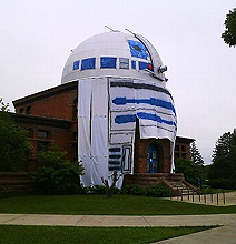 Giant R2-D2: Best College Observatory Prank Ever