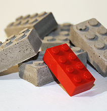 Real Concrete Lego Blocks Make Your Builds Realistic