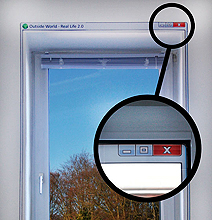 Real Life 2.0 Windows Sticker