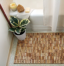 Bath Mat: The Wonderful Recycled Use Of 175 Wine Corks