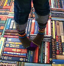 Bibliophilism: The Rug Made Out Of Books