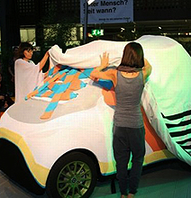 Smart Car Snuggie: The Awesome Work Of 20 Knitting Grannies