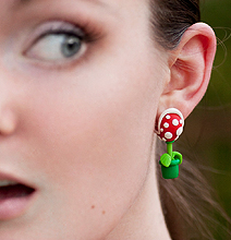 Super Mario Piranha Plant Earring: Brilliant Nerd Accessory