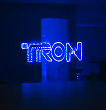 Optical Illusion Lighting: Have A Merry TRON Christmas!