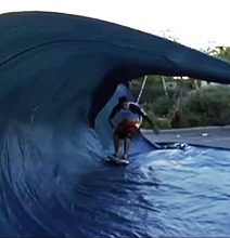 Catching The ROlling Tarp Surfing Wave