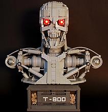 LEGO Bust: T-800 Terminator Recreated Entirely In LEGO