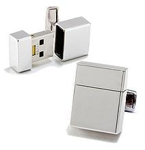 USB Flash Memory Cufflinks For The Lavish Geek