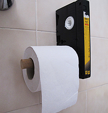 VHS Toilet Paper Holder Makes Your Bathroom Visit Fun!
