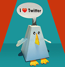 Twitter Paper Toy: For The Seriously Addicted Tweeps