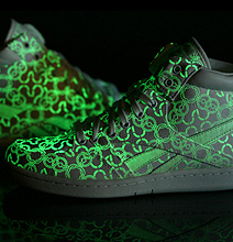 Glowing Sneakers | Fluorescent Colored Geekiness