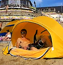 WaveCave: The Geeky Way To Hide From The Sun On The Beach!