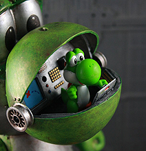 Yoshi From Super Mario Recreated As Insane Mecha Toy!