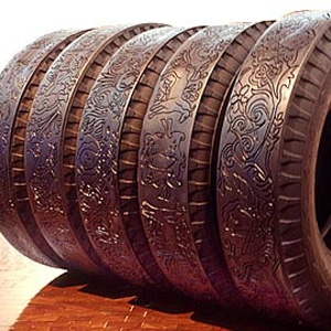Phenomenal Tire Carvings