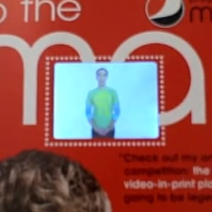 Embedded video… in a printed magazine!