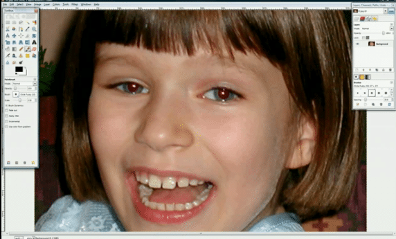 How to Remove Red Eye using GIMP