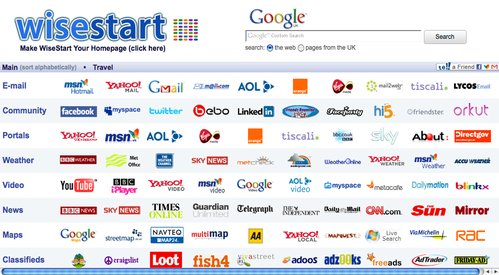 Make WiseStart Your Home Page