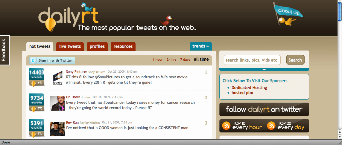 The Most Popular Tweets on the Web