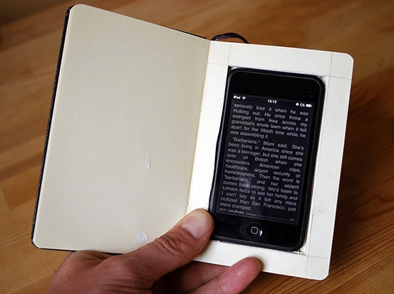 Hardcover Books augmented with iPhone? Is this Possible?